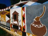 Fresco on Wall  Victoria Falls Park  Zimbabwe