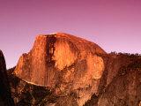Half Dome Rock at Sundown  Yosemite National Park  California  USA