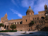 Exterior of Cathedral  Palermo  Sicily  Italy