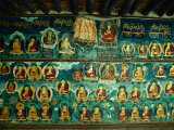 Mural at Tashilhunpo Monastery Depicting Various Teachers  Buddhas and Deities  Shigatse  Tibet