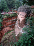 Grand Buddha  Carved into Cliff Face Leshan  Yunnan  China