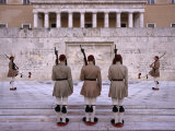 Changing of Evzone Guards at Greek Parliament Building  Athens  Attica  Greece