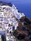 White Buildings in Oia Santorini  Athens  Greece