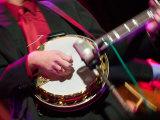 Banjo Player Detail  Grand Ole Opry at Ryman Auditorium  Nashville  Tennessee  USA