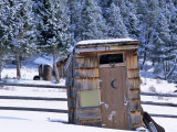 Outhouse at Elkhorn Ghost Town  Montana  USA