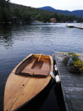 Boating at Whiteface Marina in the Adirondack Mountains  Lake Placid  New York  USA