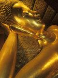 Reclining Gold Buddha at Grand Palace  Bangkok  Thailand