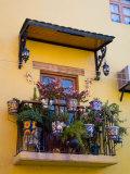 Decorative Pots on Window Balcony  Guanajuato  Mexico