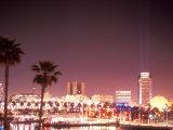 Skyline from the Park at Long Beach Harbor  Long Beach  California  USA