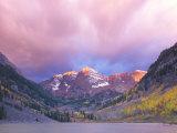 Maroon Bells Snowmass Wilderness at Dawn  Colorado  USA