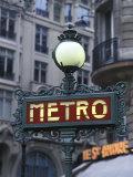 Metro Signage in Paris  France