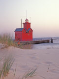 Big Red Holland Lighthouse  Holland  Ottowa County  Michigan  USA