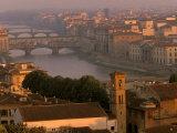 Ponte Vecchio Bridge  Arno River  Piazza Michelangelo  Florence  Tuscany  Italy