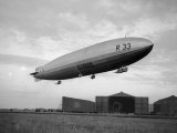 Armstrong Whitworth R33 Airship Outside the Hangars at Pulham in Norfolk  April 1925