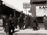 The Bowery  Noted as a Home for New York's Alcoholics  Prostitutes and the Homeless 1940s