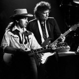 U2 Guitarist the Edge and the Rolling Stones Guitarist Keith Richard  1988