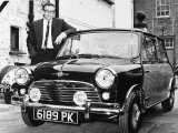 Peter Sellers with His Mini Car  1963