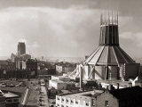 Two Cathedrals  Anglican and Catholic  Liverpool  March 1967