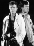 David Bowie with Mick Jagger Performing Their Hit Single Dancing in the Streets