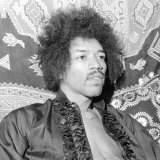 Jimi Hendrix at His Mayfair Flat Once the Residence of George Frederick Handel  January 1969