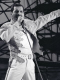 Freddie Mercury from Queen in Concert at St  James Park in Newcastle  July 1986