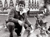 Ozzy Osbourne with Short Hair Feeding the Pigeons in Glasgow's George Square  November 1982