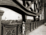 A Young Boy on Tip Toes to Get a View from the Bridge  1959