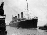 The RMS Olympic Sister Ship to the Titanic Arriving at Southampton Docks  1925