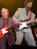 Eric Clapton and Mark Knopfler at the Nelson Mandela Concert  1988