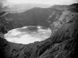 Lake in the Crater of the Volcano on Mount Soufriere in St Vincent  1968