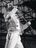 Queen Rock Group  Freddie Mercury in Concert at St James Park in Newcastle 1986