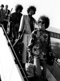 The Jimi Hendrix Experience Arriving at Lap  August 1967