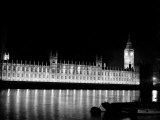 Big Ben and the Houses of Parliament Lit up at Night  1951