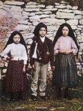 The Three Children Jacinta Francisco and Lucia Who Saw the Vision of Fatima in Portugal