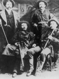 The James-Younger Gang (L-R): Cole Younger Jesse James Bob Younger Frank James