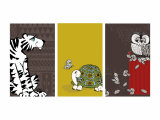 Retro Animals Triptych
