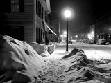 Snowy Night  Woodstock  Vermont  1940