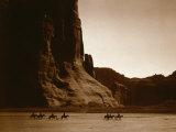 Canyon de Chelly, Navajo Reproduction photo par Edward S. Curtis