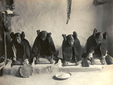 The Hopi Mealing Trough Reproduction photo par Edward S. Curtis