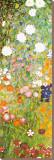 Jardin fleuri, détail Tableau sur toile par Gustav Klimt