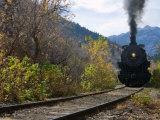 Steam Locomotive of Heber Valley Railroad Tourist Train  Wasatch-Cache National Forest  Utah  USA