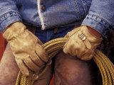 Cowboy and Rope  Ponderosa Ranch  Seneca  Oregon  USA