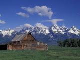 Jackson Hole Homestead and Grand Teton Range  Grand Teton National Park  Wyoming  USA