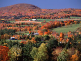 Farmland near Pomfret  Vermont  USA