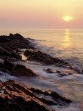 Sunrise from 'Marginal Way'  Maine  USA