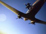 Dc-3 Airplane and Skydivers Zephyrhills  Florida  USA