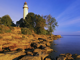 Pointe Aux Barques Lighthouse at Sunrise on Lake Huron  Michigan  USA