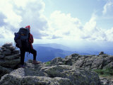Backpacking on Gulfside Trail  Appalachian Trail  Mt Clay  New Hampshire  USA