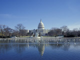 Capitol from across Capitol Reflecting Pool  Washington DC  USA