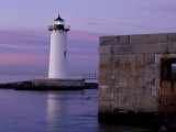Fort Constitution  State Historic Site  Portsmouth Harbor Lighthouse  New Hampshire  USA